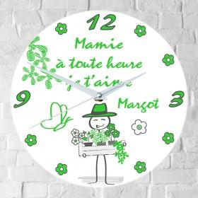 Horloge Mamie Personnalisée mod.i - Cadeau personnalise personnalisable - 1