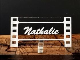 Marque Place Cinéma 2 - Négatif - Cadeau personnalise personnalisable - 1