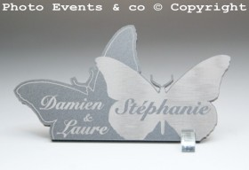 Marque Place Papillons Enlacés - Cadeau personnalise personnalisable - 1