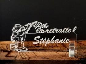 Marque Place Vive la Retraite - Peintre - Cadeau personnalise personnalisable - 1