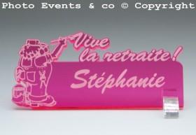 Marque Place Vive la Retraite - Peintre - Cadeau personnalise personnalisable - 2
