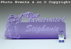 Marque Place Vive la Retraite - Peintre - Cadeau personnalise personnalisable - 3
