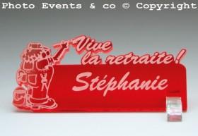 Marque Place Vive la Retraite - Peintre - Cadeau personnalise personnalisable - 12