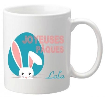 .Mug Pâques Lapin - Cadeau personnalise personnalisable - 1