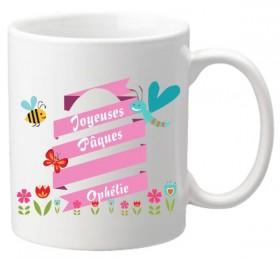 .Mug Pâques Oeuf Rose - Cadeau personnalise personnalisable - 1