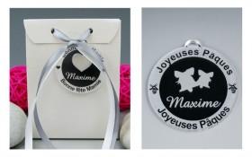 Boite de Chocolat Pâques - Médaille Cloches - Cadeau personnalise personnalisable - 1