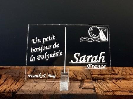 Marque place carte postale timbre personnalise personnalisable - theme voyage -decoration table mariage anniversaire - 1