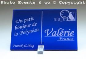 Marque place carte postale timbre personnalise personnalisable - theme voyage -decoration table mariage anniversaire - 4