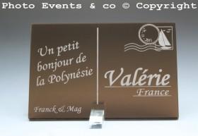 Marque place carte postale timbre personnalise personnalisable - theme voyage -decoration table mariage anniversaire - 5
