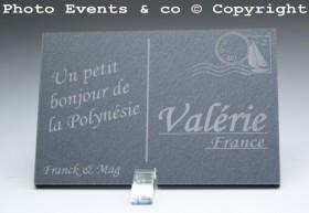 Marque place carte postale timbre personnalise personnalisable - theme voyage -decoration table mariage anniversaire - 7