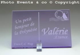 Marque place carte postale timbre personnalise personnalisable - theme voyage -decoration table mariage anniversaire - 8
