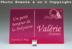 Marque place carte postale timbre personnalise personnalisable - theme voyage -decoration table mariage anniversaire - 6