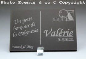 Marque place carte postale timbre personnalise personnalisable - theme voyage -decoration table mariage anniversaire - 9