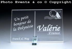 Marque place carte postale timbre personnalise personnalisable - theme voyage -decoration table mariage anniversaire - 2