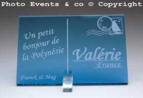 Marque place carte postale timbre personnalise personnalisable - theme voyage -decoration table mariage anniversaire - 3