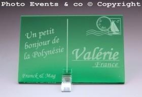 Marque place carte postale timbre personnalise personnalisable - theme voyage -decoration table mariage anniversaire - 11