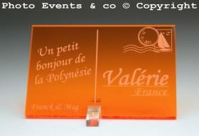 Marque place carte postale timbre personnalise personnalisable - theme voyage -decoration table mariage anniversaire - 12
