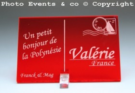 Marque place carte postale timbre personnalise personnalisable - theme voyage -decoration table mariage anniversaire - 13