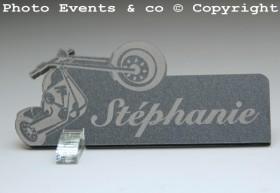 Marque Place Moto Bikeur personnalise personnalisable - decoration table mariage anniversaire - theme moto - 4