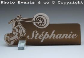 Marque Place Moto Bikeur personnalise personnalisable - decoration table mariage anniversaire - theme moto - 7