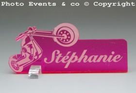 Marque Place Moto Bikeur personnalise personnalisable - decoration table mariage anniversaire - theme moto - 9