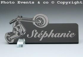 Marque Place Moto Bikeur personnalise personnalisable - decoration table mariage anniversaire - theme moto - 3