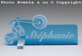Marque Place Moto Bikeur personnalise personnalisable - decoration table mariage anniversaire - theme moto - 6
