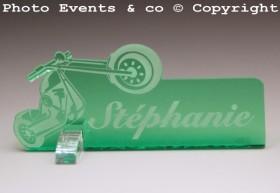 Marque Place Moto Bikeur personnalise personnalisable - decoration table mariage anniversaire - theme moto - 12