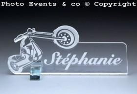 Marque Place Moto Bikeur personnalise personnalisable - decoration table mariage anniversaire - theme moto - 2