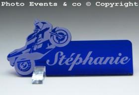 Marque Place Moto de course personnalise personnalisable - decoration mariage anniversaire - theme moto - 2