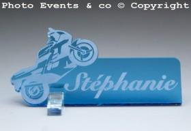 Marque Place Moto de course personnalise personnalisable - decoration mariage anniversaire - theme moto - 3