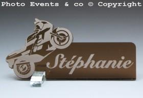 Marque Place Moto de course personnalise personnalisable - decoration mariage anniversaire - theme moto - 4