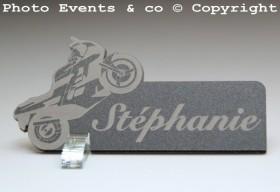 Marque Place Moto de course personnalise personnalisable - decoration mariage anniversaire - theme moto - 5