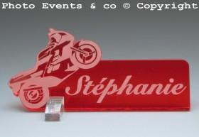 Marque Place Moto de course personnalise personnalisable - decoration mariage anniversaire - theme moto - 6