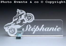 Marque Place Moto de course personnalise personnalisable - decoration mariage anniversaire - theme moto - 7