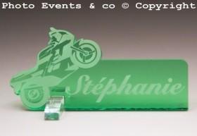 Marque Place Moto de course personnalise personnalisable - decoration mariage anniversaire - theme moto - 8
