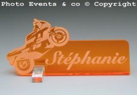 Marque Place Moto de course personnalise personnalisable - decoration mariage anniversaire - theme moto - 11