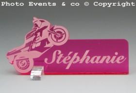 Marque Place Moto de course personnalise personnalisable - decoration mariage anniversaire - theme moto - 13