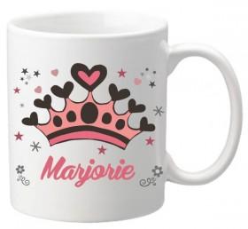 Mug 37 - Mug personnalise personnalisable - cadeau pour anniversaire -cadeau enfant fille - theme princesse et couronne - 1