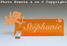 Marque Place Ange personnalise personnalisable - décoration table baptême et anniversaire - thème ange - 10