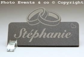 Marque Place Alliances personnalise personnalisable - Décoration table de mariage - Thème Alliances -11