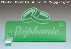 Marque Place Alliances personnalise personnalisable - Décoration table de mariage - Thème Alliances -10