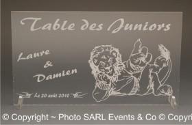 Marque Table Juniors - Cadeau personnalise personnalisable - 1