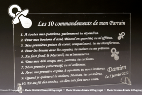 10 Commandements Parrain Marraine Mod.Tototte - Cadeau personnalise personnalisable - 1