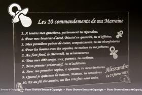 10 Commandements Parrain Marraine Cadeau personnalise personnalisable - 3