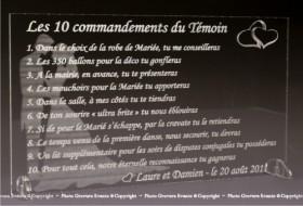 Les 10 Commandements du Témoins de Mariage - Cadeau personnalise personnalisable - 2