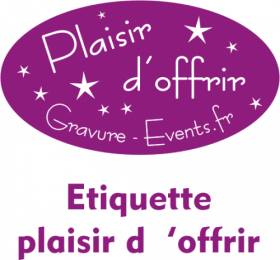 .Boite cadeau cartonnée pour 2 flûtes Gravure Events - Cadeau personnalisé - 2