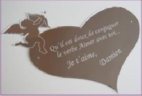 Miroir Cupidon Poème - Cadeau personnalise personnalisable - 1