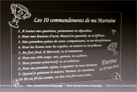 10 Commandements Parrain Marraine - Modèle Calice - Cadeau personnalise personnalisable - 3