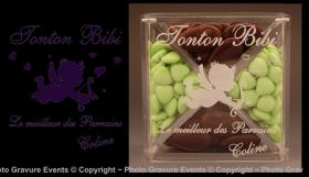 Boite Dragées en Plexiglas - Mod. Ange - Cadeau personnalise personnalisable - 1